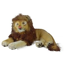 1950's Steiff Large Sized Laying Lion
