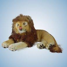 1950's Steiff Large Sized Laying Lion
