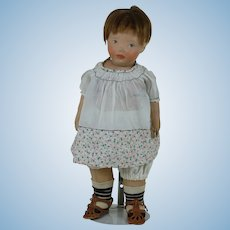 Rare 1910's Kamkins Doll w/ Unusual Rear Molding