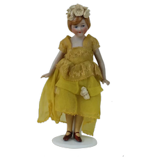 1920's All Bisque Flapper Doll made in Germany