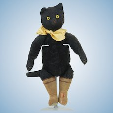 Rare 1930's Puss in Boots Plush Toy