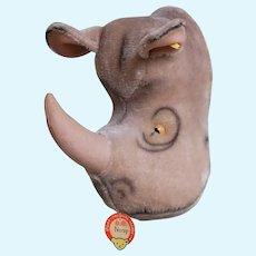 "1950's Steiff ""Nosy"" Rhino Trophy Head"