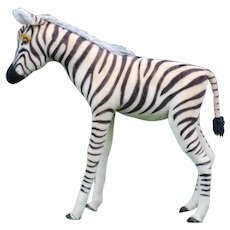 1970's Steiff Studio Zebra with Split Chest Tag
