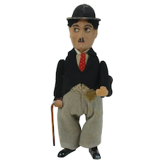 Early 1900's Schuco Mechanical Wind-up Charlie Chaplin Toy