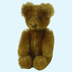 """1950's 3 1/2"""" Two Face Apricot Janice Teddy Bear"""