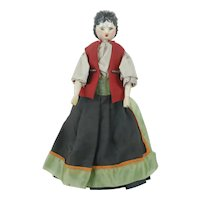 "1850's 11"" German Wooden Grodnerthal Doll"