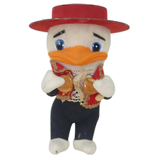 1940's-50's Disney's Huey Wool Plush in Mariachi Outfit