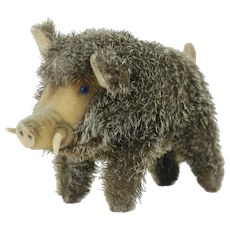 Steiff 1950's Old Boar Plush with Prickly Mohair