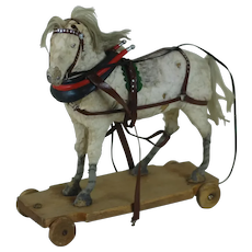 1920's-30's Pull String Horse Toy