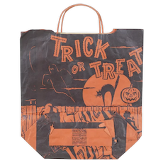 Three 1950's Halloween Trick-or-Treat Paper Bags