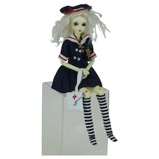 Modern Plastic American Ball Joint Doll in Vintage Outfit