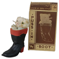 1930's Puss in Boots Gund Manufacturing Co. Toy