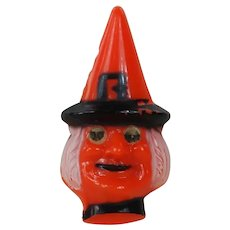 1930's-40's Hard Plastic Halloween Witch Pin