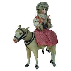 1900's Mary and Lamb Nodding Pull Toy