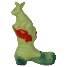 1920's-30's American Viscoloid Celluloid Boot and Rabbit