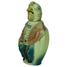 1920's-30's American Viscoloid Celluloid Chicken in Chair Figure
