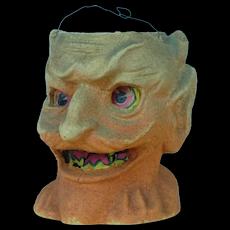 1930's Pulp Devil Jack-o-Lantern Halloween Bucket