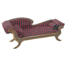 1920's-30's Hand Made Doll House Lounge Chair by Barbara Fowler