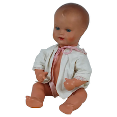 1920's-30's German Celluloid Turtle Marked Baby Doll
