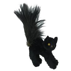 1930's English Scaredy Black Cat Plush