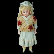 """1890's 10 1/2"""" Paper Mach'e & Cloth Body Doll"""