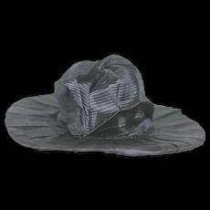 Early 20th Century Hand Made Dark Purple Silk Doll Hat