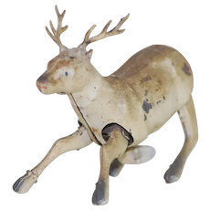 1920's Tin Wind-up Reindeer