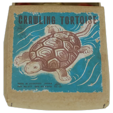 Late 1940's Japanese Crawling Tortoise Celluloid Toy