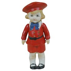 "Early 1900's Hertwig Buster Brown 4"" Bisque Figure"