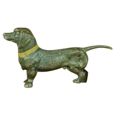 "Wonderful 4.5 "" Dachshund Dresden Ornament for your Christmas Tree; Silver"