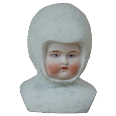 Beautiful Large 3  inch Shoulder plate GERMAN Snow Baby Head For Doll