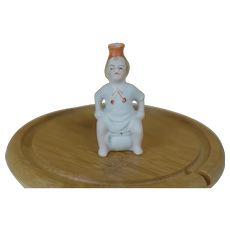 Early German Porcelain Bisque Potty child pee pee