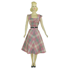 22 Inch Mini Mannequin with 1940s Dress.