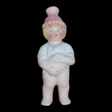 Cute Chubby little German Porcelain Pee Pee Naughty boy squirt figure