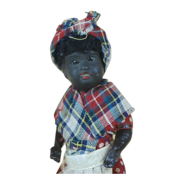 6 Inch Black Doll German Bisque head Compo body Mammy