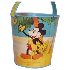 Walt Disney Enterprises Mickey and Donald Ohio Art Company Sand Pail