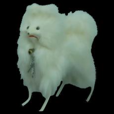 Mint White Spitz fur dog for Fashion doll.