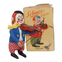 US Zone Germany Schuco Clown Violin Player with original Box