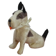Paper Mache dog for doll house or for doll companion.