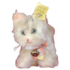 Cute Full ID 1950s Steiff Tabby Cat 3 inches tall