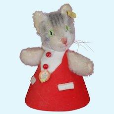 Lovely Original Steiff Cat Hide A gift toy 1950s
