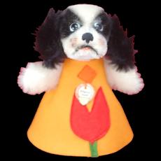 Minty Steiff Nightcap Cockie Hide a Gift Dog