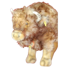 Mint 1950s Lg 15 Inch Steiff Bison All Id Super special