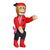 Near Mint 1920s Yes/No Schuco Bellhop Monkey Souvenir of Canada