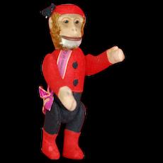 Near Mint 1920s Yes/No Schuco Bellhop Monkey Souvenir of Canada