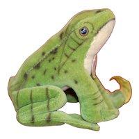 Wonderful mint 1950s full Id Steiff Velvet Froggy Frog