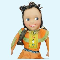 Princess SummerFall WinterSpring Howdy Doody Cloth Doll. Provenance