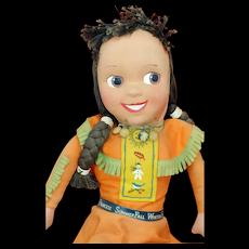 Princess SummerFall WinterSpring Howdy Doody Cloth Doll. Provenance