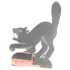 H. E. Luhrs Halloween Black cat Die Cut Honeycomb base