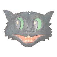 H. E. Luhrs USA Halloween Black Cat  head face Die Cut